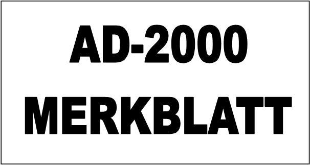 AD-2000 MERKBLATT cetificate Guichon Valves