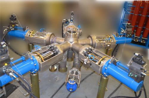 Mehr-Wege-ventile mit hydraulischer Steuerung DN250x150x150 PN250